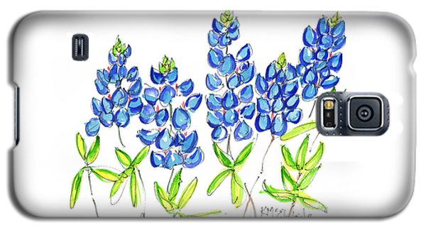 Texas Bluebonnets Watercolor Painting By Kmcelwaine Galaxy S5 Case