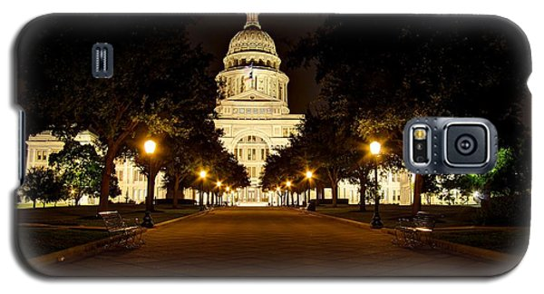 Galaxy S5 Case featuring the photograph Texas Capitol At Night by Dave Files