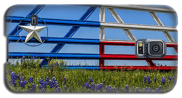 Texas Flag Painted Gate With Blue Bonnets Galaxy S5 Case