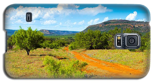Galaxy S5 Case featuring the photograph Texas Hill Country Red Dirt Road by Darryl Dalton