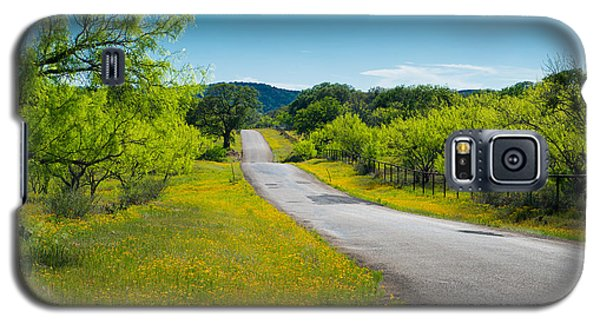 Galaxy S5 Case featuring the photograph Texas Hill Country Road by Darryl Dalton