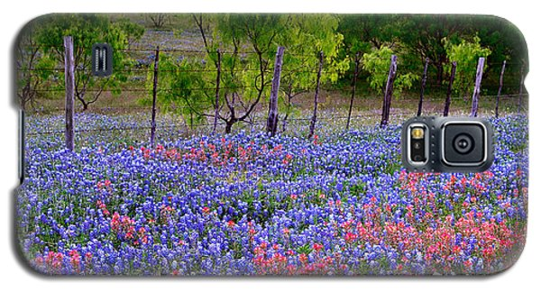 Texas Roadside Heaven -bluebonnets Paintbrush Wildflowers Landscape Galaxy S5 Case