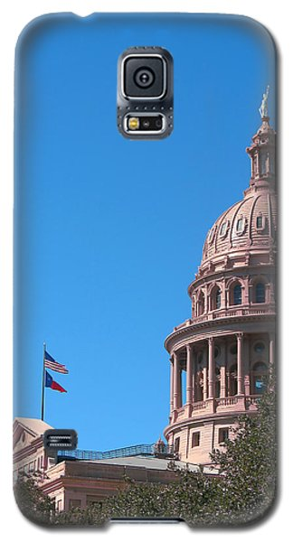 Texas State Capitol With Pediment Galaxy S5 Case by Connie Fox