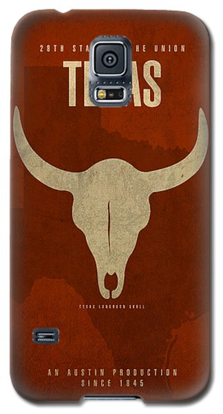 Texas State Facts Minimalist Movie Poster Art  Galaxy S5 Case