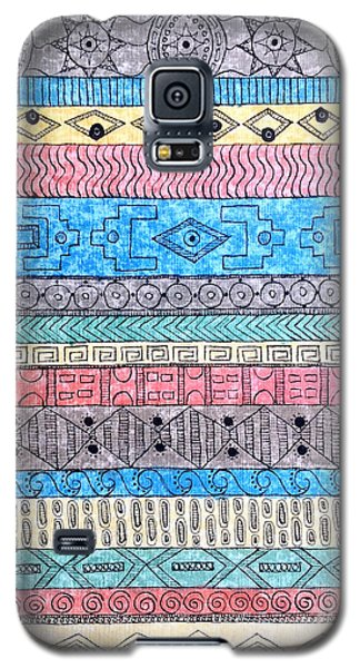Galaxy S5 Case featuring the painting Textile #1 by Rebecca Davis