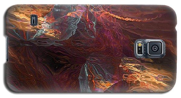 Galaxy S5 Case featuring the digital art Texture Splash by Margie Chapman