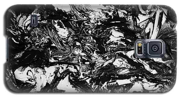 Textured Black And White Galaxy S5 Case by Angela Stout