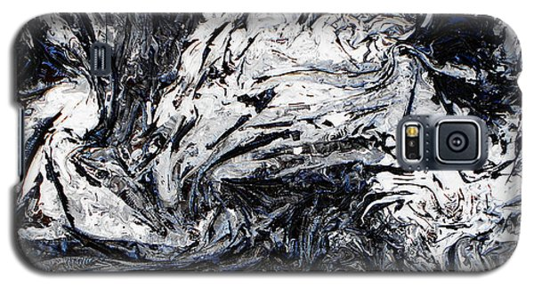 Textured Black And White Series 1 Galaxy S5 Case by Angela Stout