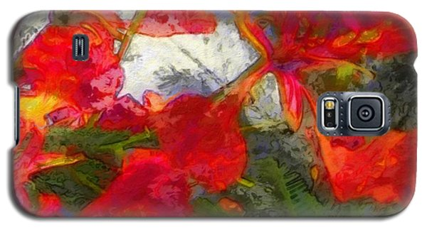 Textured Flamboyant Flowers - Square Galaxy S5 Case