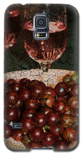 Textured Grapes Galaxy S5 Case by Barbara S Nickerson