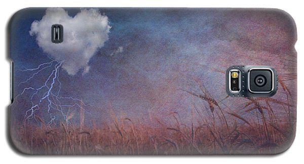 Textured Heart Cloud And Open Field Galaxy S5 Case by Bruce Rolff