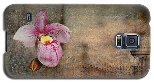 Textured Orchid Galaxy S5 Case by Vicki DeVico