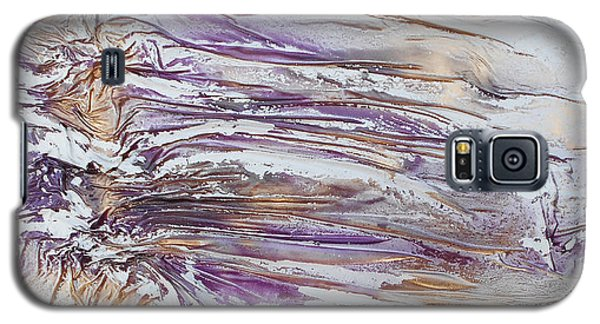 Textured Purple And Gold Series 3 Galaxy S5 Case