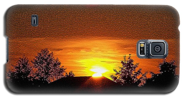 Galaxy S5 Case featuring the photograph Textured Rural Sunset by Gena Weiser