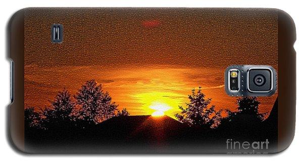 Textured Rural Sunset Galaxy S5 Case