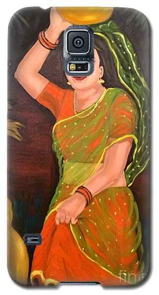 Galaxy S5 Case featuring the painting Thamizhachi by Brindha Naveen