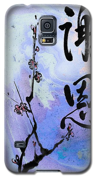 Galaxy S5 Case featuring the mixed media Thank You Shaon Gratitude by Peter v Quenter