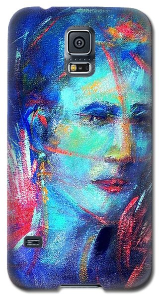 Galaxy S5 Case featuring the painting That Moment by Jodie Marie Anne Richardson Traugott          aka jm-ART