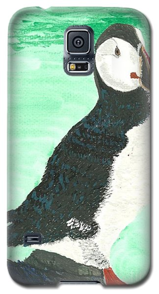 That's Another Puffin Year Over Galaxy S5 Case by Tracey Williams