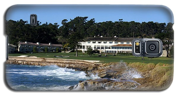 The 18th At Pebble Beach Galaxy S5 Case by Barbara Snyder