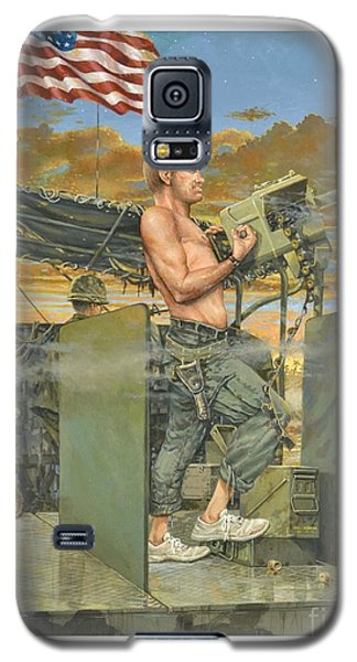 Galaxy S5 Case featuring the painting The 458th Transortation Co. In Vietnam. by Bob  George