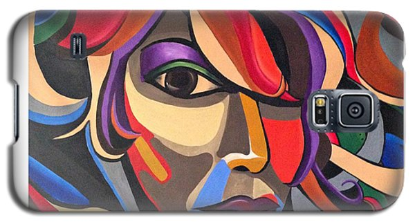Colorful Abstract Woman Face Art, Acrylic Painting, 3d Illusion Galaxy S5 Case
