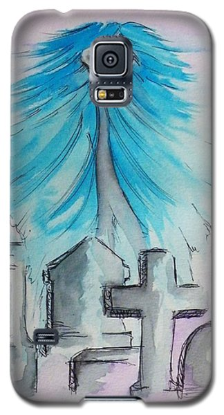Galaxy S5 Case featuring the painting The Albino Woman Of Topeka by The GYPSY And DEBBIE