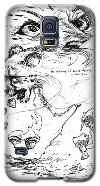 Galaxy S5 Case featuring the drawing The Alchemy Of Dawn by John Ashton Golden