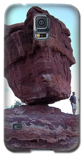 Galaxy S5 Case featuring the photograph The Amazing Balanced Rock 2 by Sheila Byers