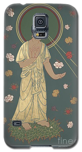 Galaxy S5 Case featuring the painting The Amitabha Buddha Descending 247 by William Hart McNichols