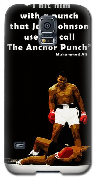 Boxing Muhammad Ali Galaxy S5 Case - The Anchor Punch by Mark Rogan