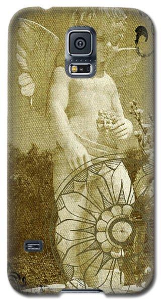 Galaxy S5 Case featuring the digital art The Angel - Art Nouveau by Absinthe Art By Michelle LeAnn Scott