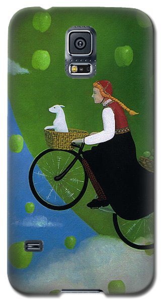 Galaxy S5 Case featuring the painting The Apple Transport by Tone Aanderaa
