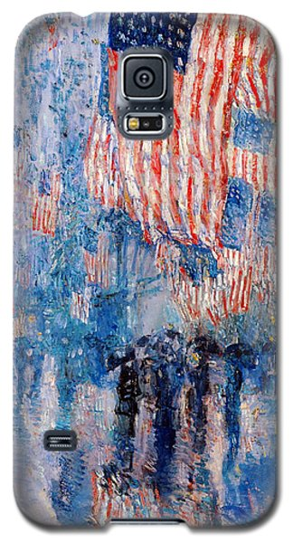 The Avenue In The Rain Galaxy S5 Case by Frederick Childe Hassam