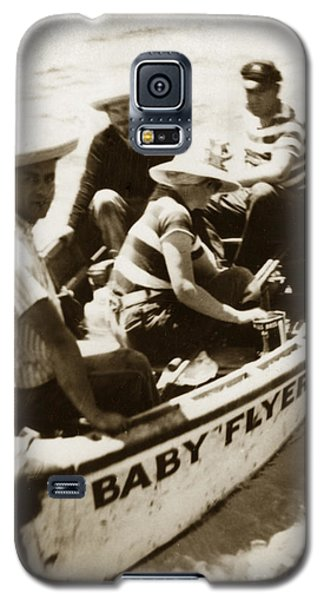 The Baby Flyer With Ed Ricketts And John Steinbeck  In Sea Of Cortez  1940 Galaxy S5 Case
