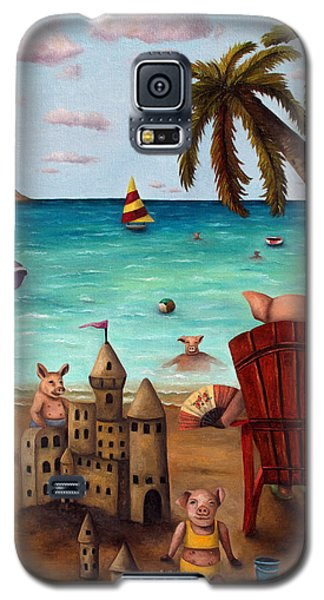 The Bacon Shortage Brighter Galaxy S5 Case by Leah Saulnier The Painting Maniac