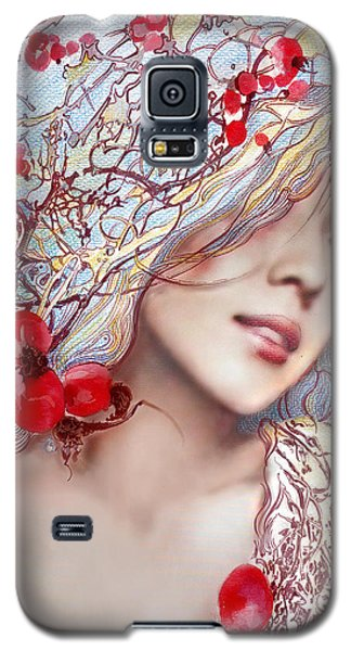 Galaxy S5 Case featuring the painting The Barberry by Anna Ewa Miarczynska