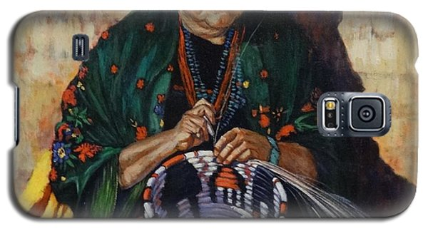 Galaxy S5 Case featuring the painting The Basket Weaver by Charles Munn