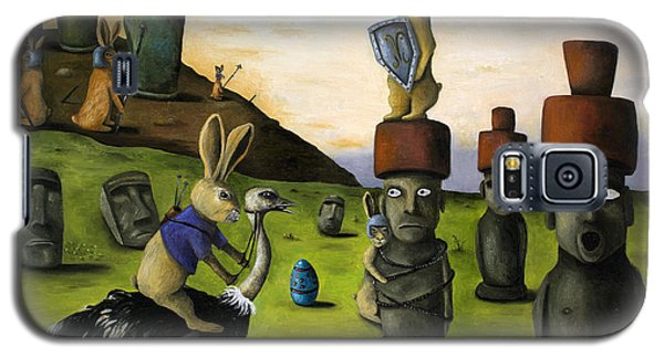 The Battle Over Easter Island Galaxy S5 Case by Leah Saulnier The Painting Maniac