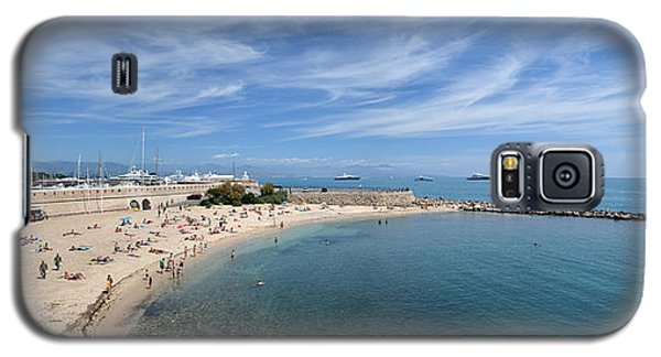 Galaxy S5 Case featuring the photograph The Beach At Cap D' Antibes by Allen Sheffield