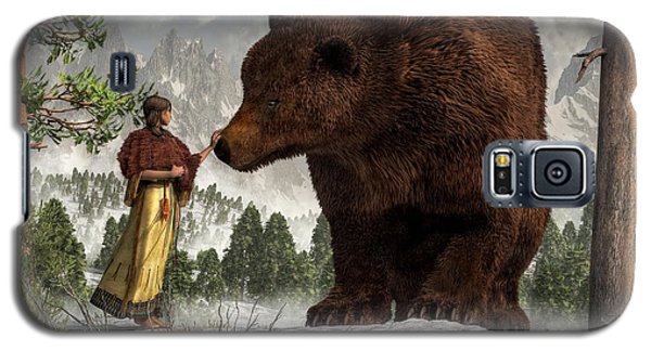 The Bear Woman Galaxy S5 Case by Daniel Eskridge