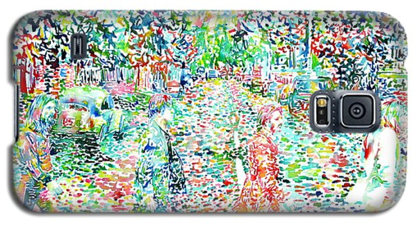 The Beatles - Abbey Road - Watercolor Painting Galaxy S5 Case