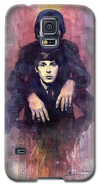 Portret Galaxy S5 Case - The Beatles John Lennon And Paul Mccartney by Yuriy Shevchuk