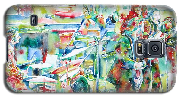 The Beatles Rooftop Concert - Watercolor Painting Galaxy S5 Case