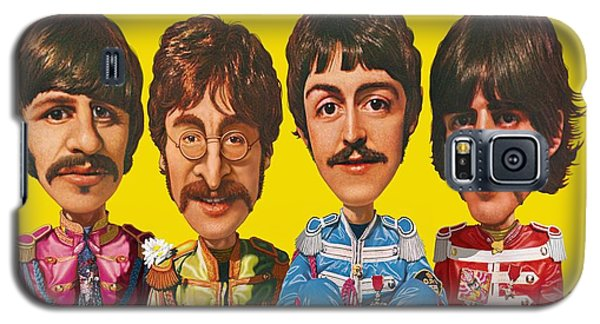 Galaxy S5 Case featuring the digital art The Beatles by Scott Ross