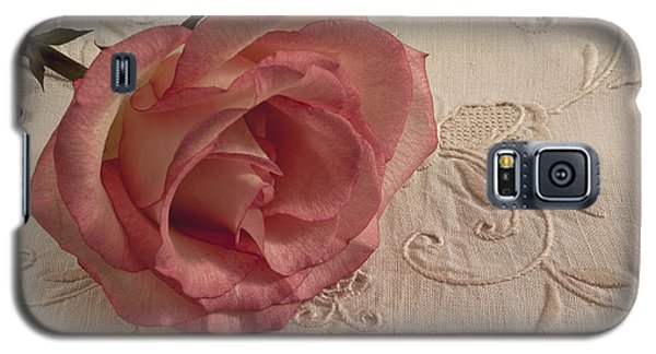 Galaxy S5 Case featuring the photograph The Beauty Of Just One Rose by Sandra Foster