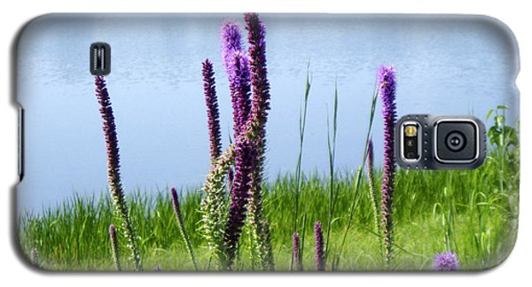 Galaxy S5 Case featuring the photograph The Beauty Of The Liatris by Verana Stark