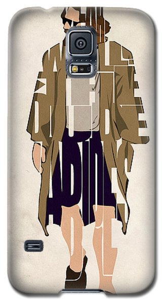 The Big Lebowski Inspired The Dude Typography Artwork Galaxy S5 Case by Ayse Deniz