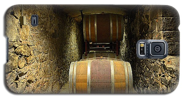 The Biltmore Estate Wine Barrels Galaxy S5 Case by Luther Fine Art