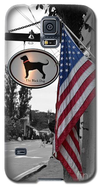 Galaxy S5 Case featuring the photograph The Black Dog Store by Angela DeFrias